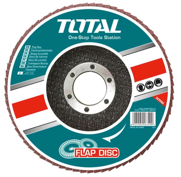 "SANDING DISC 4 1/2"" FLAP 60 TOTAL TAC631152"