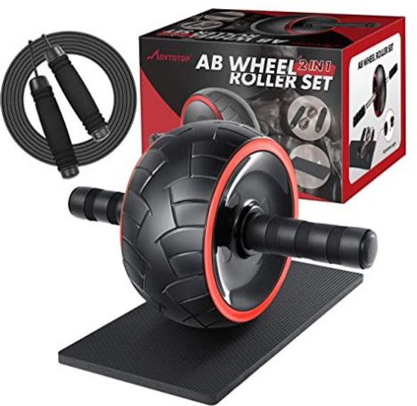 Gym Ab Wheel Roller 2 in 1 set Movtotop