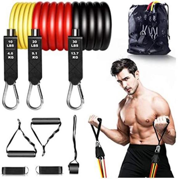 Gym Resistance Band Senymin 9pcs kit