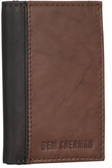Wallet Men Ben Sherman Slim Bifold Full-Grain Leather RFID Gift Box