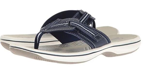 Footwear Clarks Women's Brinkley Jazz Flip Flop