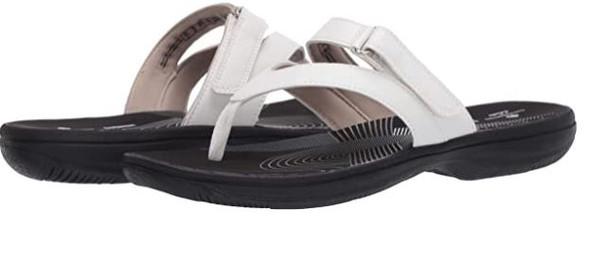 Footwear Clarks Women's Brinkley Marin Flip-Flop White