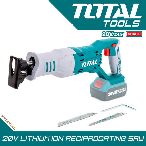 RECIPROCATING SAW TOTAL TRSLI1151 20V LITHIUM-ION