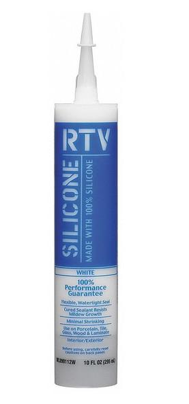 SILICONE WHITE LIGHTNING RTV 100% WHITE 10 OZ WL099112W