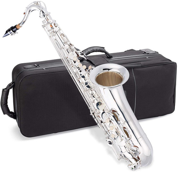 SAX TENOR JEAN PAUL TS-400SP WITH CASE SILVER-PLATED