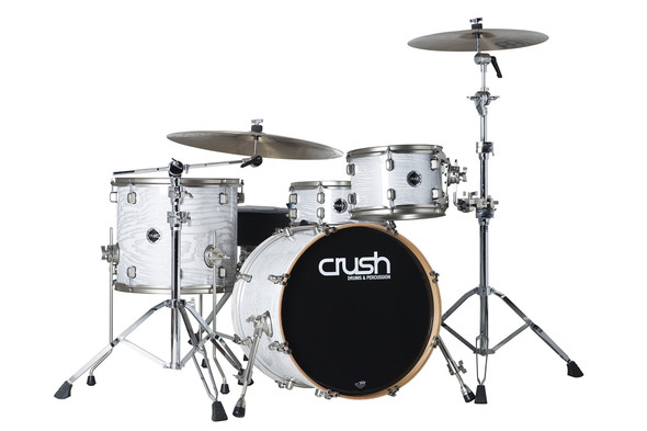 DRUM SET CRUSH SMA448612 Sublime AXM HG White with Silver Sparkle