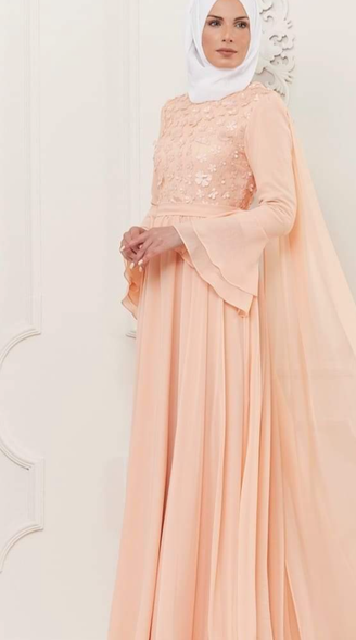 Dress Evening Peach