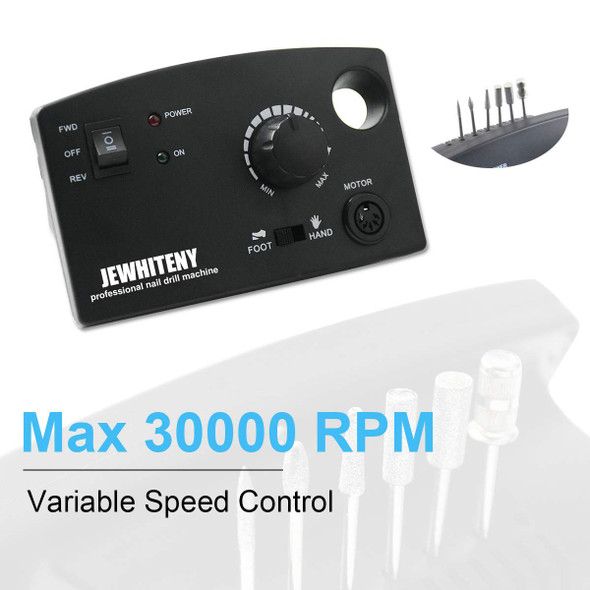 Nails Drill Polisher Jewhiteny Professional 110-240v black 402