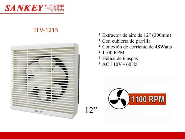 "FAN 12"" WALL EXTRACTOR SANKEY TFV-1215 110V"