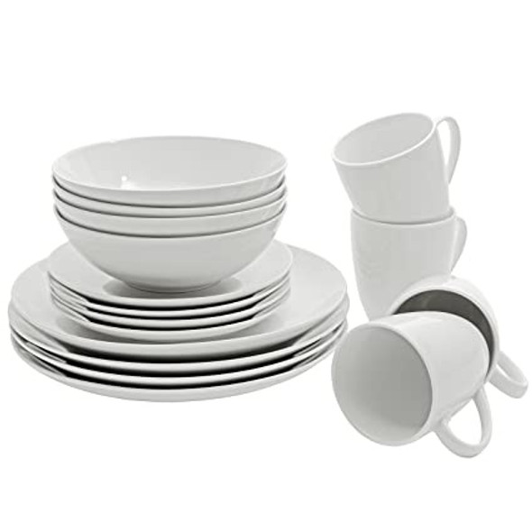 DINNER SET 16PCS 10 STRAWBERRY STREET SM-1600-CP-W