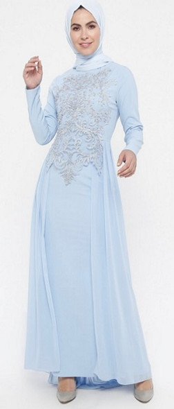 Dress Evening Baby Blue