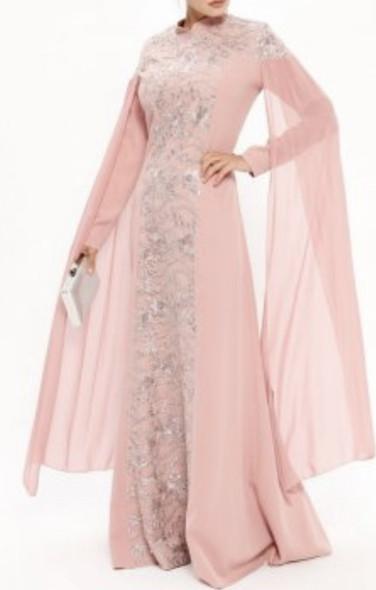 Dress Evening BN Dried Rose