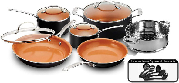 POT SET 15PCS GOTHAM STEEL COPPER