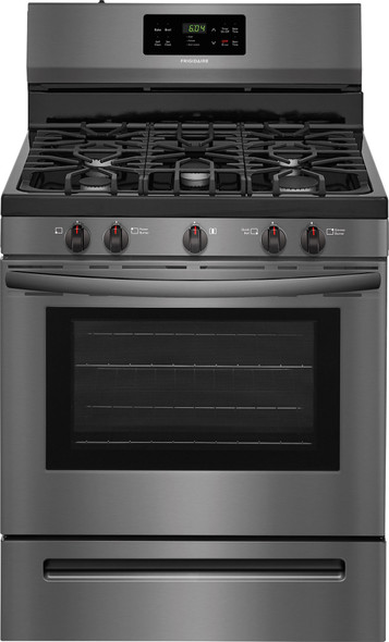 STOVE 5 BURNER FRIGIDAIRE FFGF3054TD BLACK STAINLESS STEEL