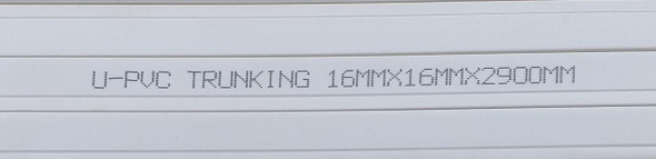 TRUNKING UPVC 16MM X 16MM PVC 9.5FT