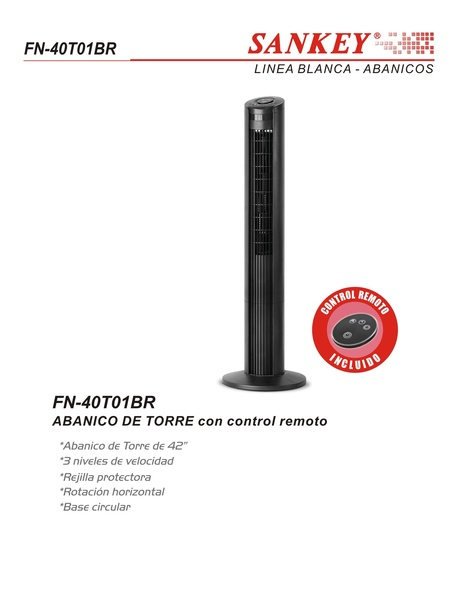 "FAN TOWER SANKEY 42"" FN-40T01BR"