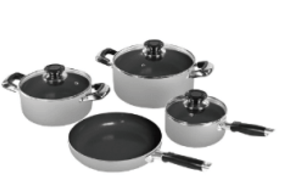 POT SET SANKEY 9PCS W-985C COOKWARE SET GREY