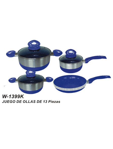 POT SET 13PCS SANKEY W-1399K CERAMIC SERIES