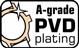 Rose gold PVD coating
