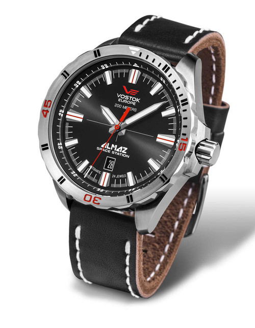 Vostok-Europe Almaz Automatic Leather Strap NH35A/320A258