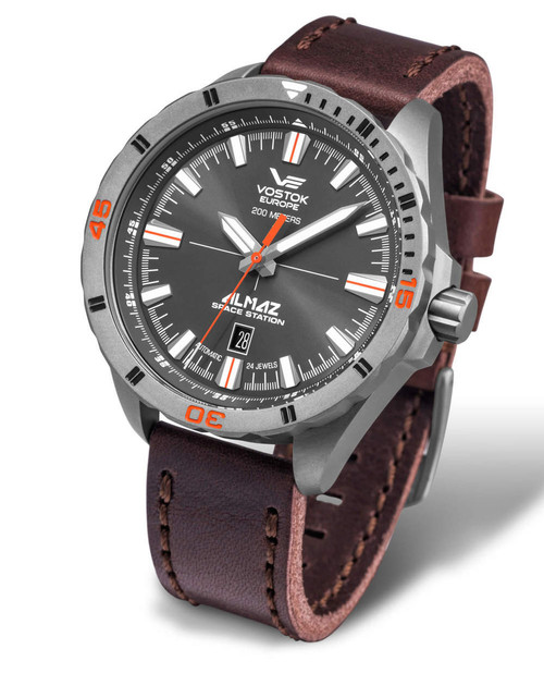 Vostok-Europe Almaz Titanium Automatic Leather Strap NH35A/320H263
