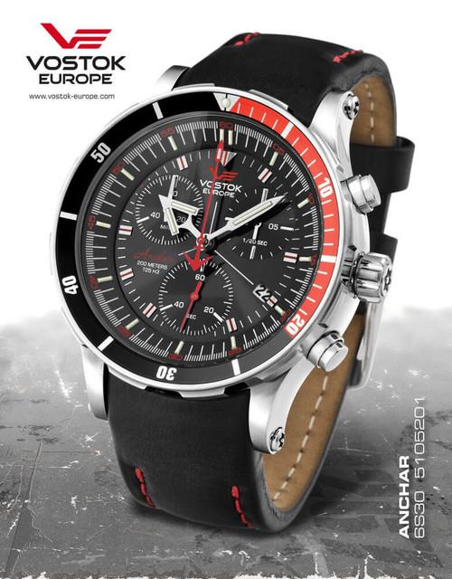 Vostok-Europe Anchar Mens Diver Watch 6S30/5105201
