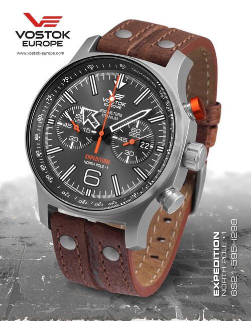Vostok-Europe Expedition North Pole 1 Titanium Watch (6S21/595H298)