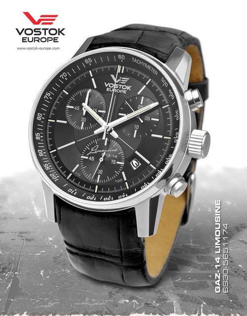 Vostok-Europe Gaz-Limo Quartz Chronograph Watch 6S30/5651174