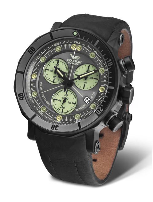 Vostok-Europe Lunokhod 2 Grand Chrono Tritium Tube Watch 6S30/6204212