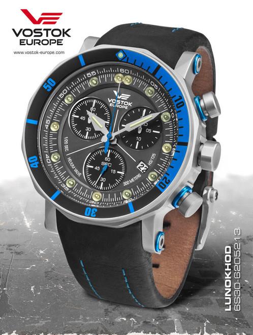 Vostok-Europe Lunokhod 2 Grand Chrono Tritium Tube Watch 6S30/6205213