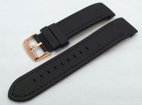 Vostok Europe Almaz Leather Strap 22mm Black-Alm.22.L.R.Bk