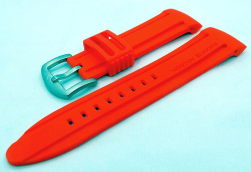 Vostok Europe Anchar Silicon Strap 24mm Red-Anc.24.S.M.R
