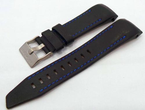 Vostok Europe Mriya Leather Strap 24mm Black/Blue-Mry.24.L.M.Bk.Bu