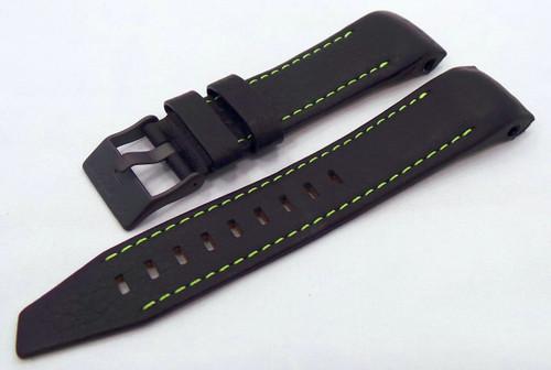 Vostok Europe Mriya Leather Strap 24mm Black/Green-Mry.24.L.B.Bk.G