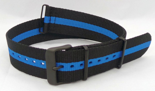 Vostok Europe Expedition North Pole NATO Ballistic Nylon Strap 24mm Black/Blue-Exp.24.N.B.Bk.Bu