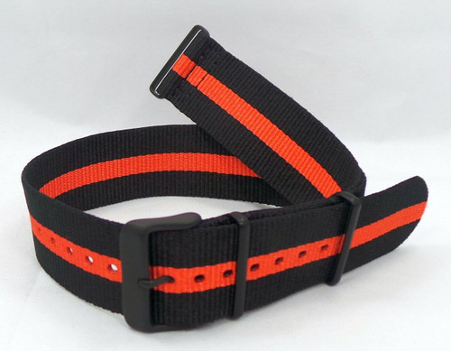 Vostok Europe Expedition North Pole NATO Ballistic Nylon Strap 24mm Black/Orange-Exp.24.N.B.Bk.O