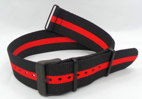 Vostok Europe Expedition North Pole NATO Ballistic Nylon Strap 24mm Black/Red-Exp.24.N.B.Bk.R