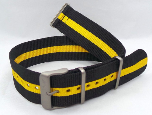 Vostok Europe Expedition North Pole NATO Ballistic Nylon Strap 24mm Black/Yellow-Exp.24.N.M.Bk.Y