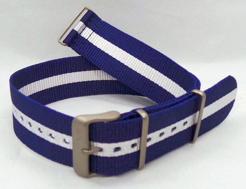 Vostok Europe Expedition North Pole NATO Ballistic Nylon Strap 24mm Blue/White-Exp.24.N.M.Bu.W
