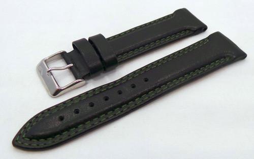 Vostok Europe K3 Leather Strap 21mm Black/Green-K3.21.L.S.Bk.G