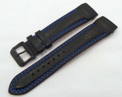 Vostok Europe N1 Rocket-Radio Room Leather Strap 22mm Black/Blue-N1RR.22.L.B.Bk.Bu