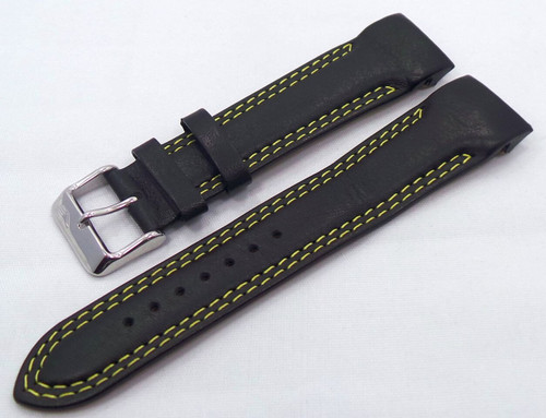 Vostok Europe N1 Rocket-Radio Room Leather Strap 22mm Black/Yellow-N1RR.22.L.S.Bk.Y