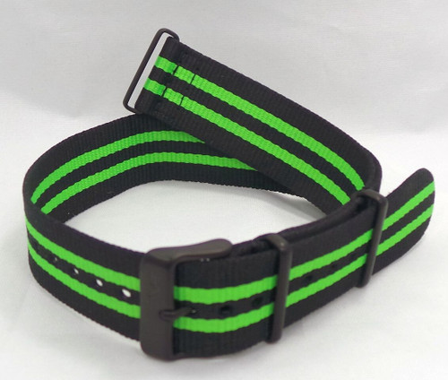 Vostok Europe N1 Rocket Radio Room NATO Ballistic Nylon Strap 22mm Black/Green-N1RR.22.N.B.Bk.G