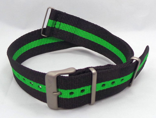 Vostok Europe N1 Rocket Radio Room NATO Ballistic Nylon Strap 22mm Black/Green-N1RR.22.N.M.Bk.G