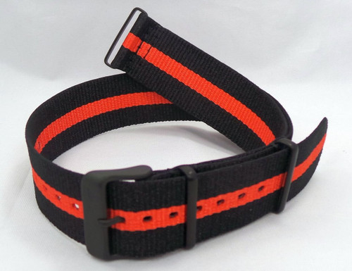 Vostok Europe N1 Rocket Radio Room NATO Ballistic Nylon Strap 22mm Black/Orange-N1RR.22.N.B.Bk.O