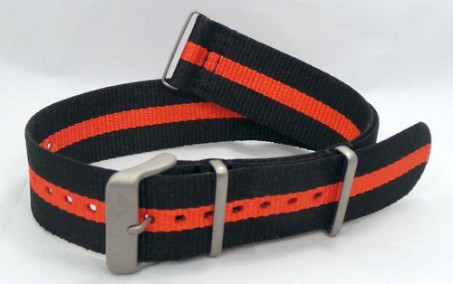 Vostok Europe N1 Rocket Radio Room NATO Ballistic Nylon Strap 22mm Black/Orange-N1RR.22.N.M.Bk.O
