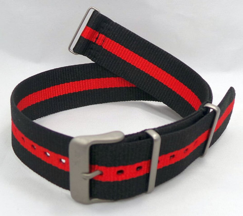 Vostok Europe N1 Rocket Radio Room NATO Ballistic Nylon Strap 22mm Black/Red-N1RR.22.N.M.Bk.R