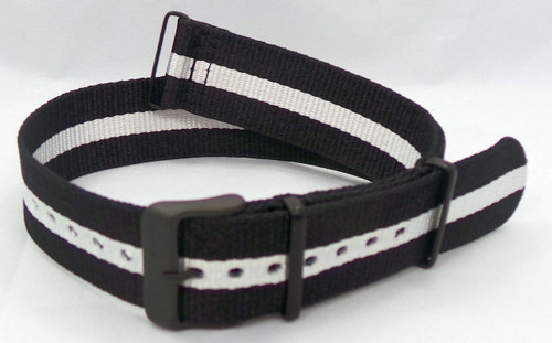 Vostok Europe N1 Rocket Radio Room NATO Ballistic Nylon Strap 22mm Black/White-N1RR.22.N.B.Bk.W