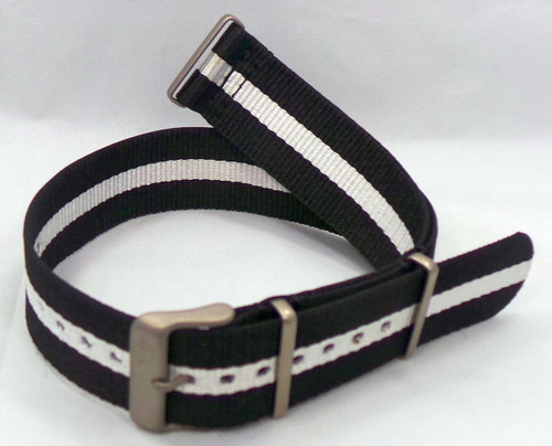 Vostok Europe N1 Rocket Radio Room NATO Ballistic Nylon Strap 22mm Black/White-N1RR.22.N.M.Bk.W