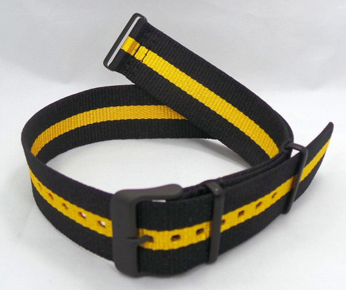 Vostok Europe N1 Rocket Radio Room NATO Ballistic Nylon Strap 22mm Black/Yellow-N1RR.22.N.B.Bk.Y